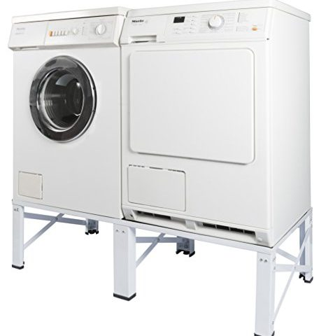 doppel untergestell f r waschmaschine und trockner sockel podest unterbau erh hung 005160 notsira. Black Bedroom Furniture Sets. Home Design Ideas