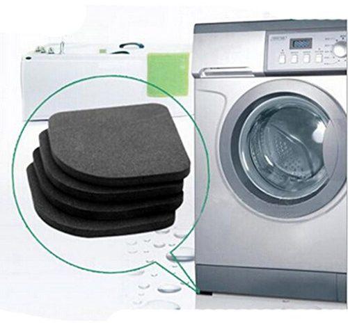 4pcs schwarz multifunktionale waschmaschine shock pads anti rutsch matten k hlschrank shock mute. Black Bedroom Furniture Sets. Home Design Ideas