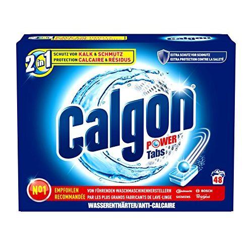 calgon 2in1 tabs wasserenth rter gegen kalk schmutz in der waschmaschine 1er pack 1 x 48. Black Bedroom Furniture Sets. Home Design Ideas