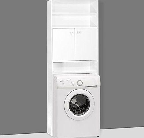 waschmaschinenschrank badezimmerschrank f r waschmaschine 195 x 63 x 20 cm farbe wei 3. Black Bedroom Furniture Sets. Home Design Ideas